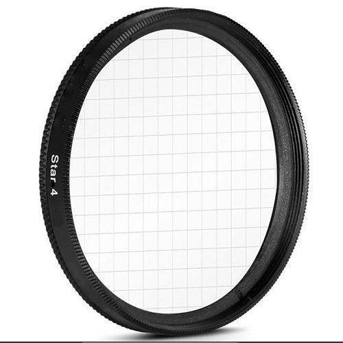 filtro de estrella de 4 puntas 55mm lente fotografia video