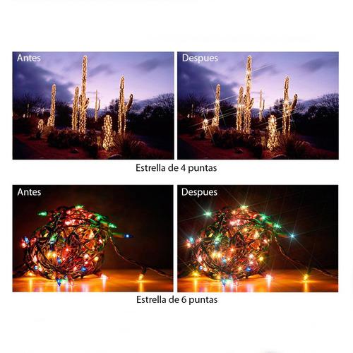 filtro de estrella de 4 puntas 58mm lente fotografia video