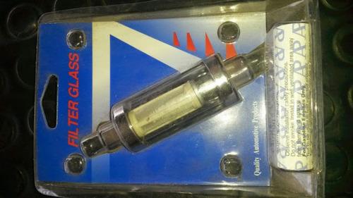 filtro de gasolina de vidrio