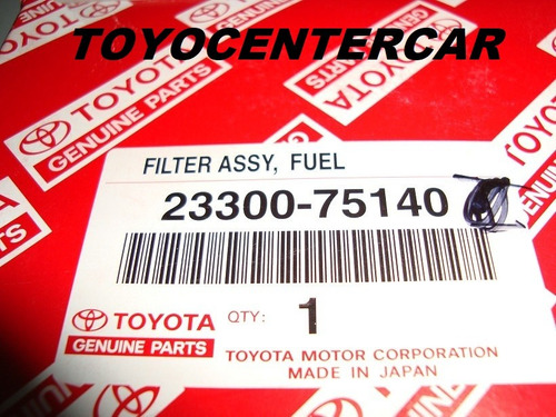 filtro de gasolina original toyota fortuner y kavak