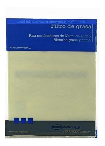 filtro de grasa 2 unidades spar para purificadores