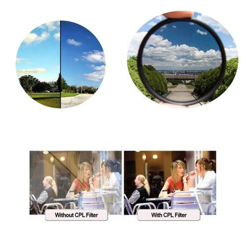 filtro de lente polarizador 58mm cpl greika