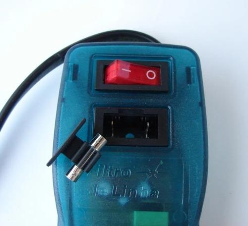 filtro de linha profissional extensão 06 tomadas voltímetro