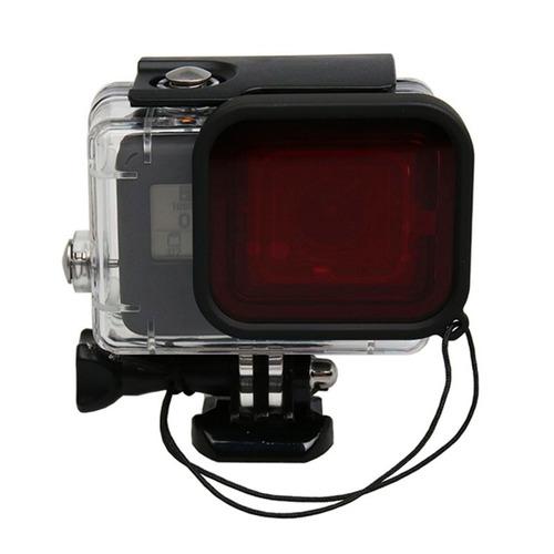 filtro de mergulho - vermelho - gopro hero5 6 e 7 black