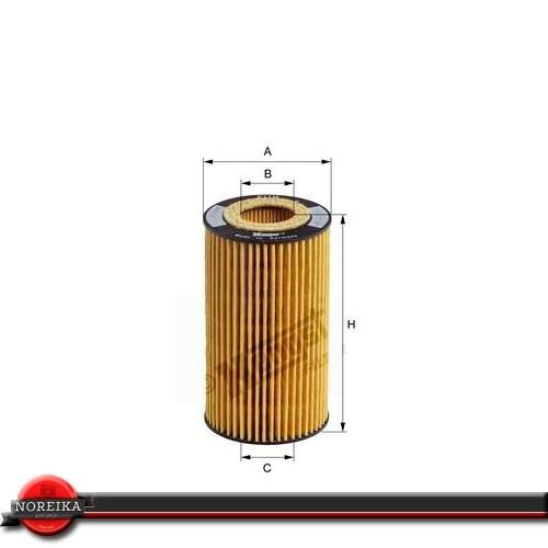 filtro de oleo bmw 545i 4.4 04/09 hengst e203hd67