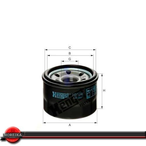 filtro de oleo fortwo ii coupe 1.0  07/... hengst h310w
