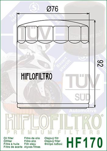 filtro de óleo harley davidson xl 1200 hiflo filtro hf170b