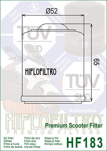 filtro de óleo kasinski prima 150 - hf183