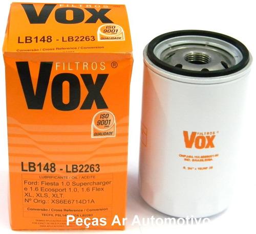 filtro de óleo lb148 - fiesta / ecosport / courrier