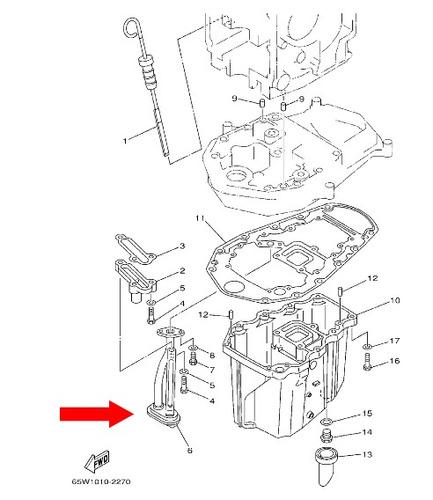 filtro de oleo motor de popa yamaha sailor 25hp 4 tempos