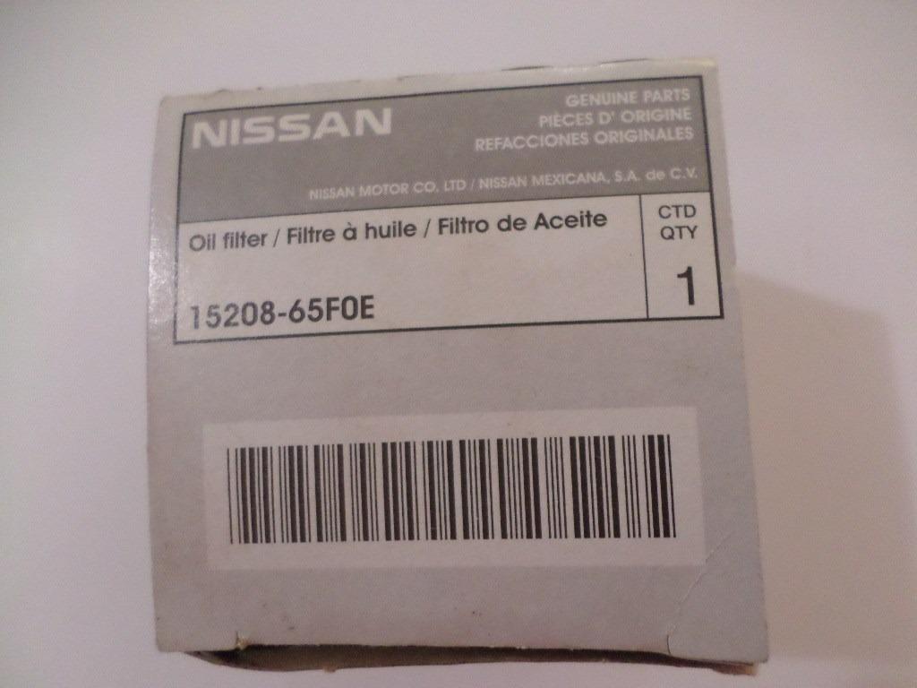 Filtro De Óleo Nissan Sentra/versa Original 15208-65f0e ...