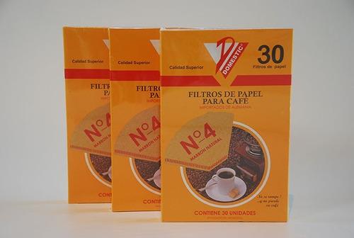filtro de papel para cafe n4 x 30 unidades cafetera