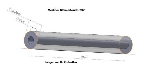 filtro de sedimentos 5 micras (spun) 2.5x20 plg.  estándar
