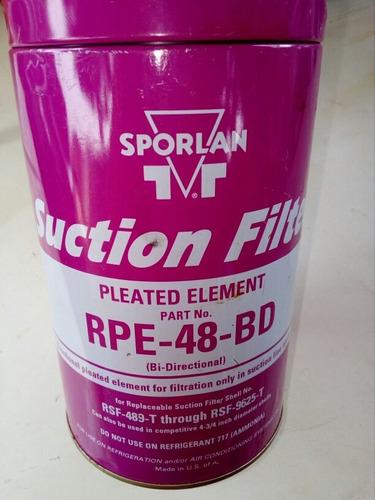 filtro de succión marca spolan modelo rpe-48-bd