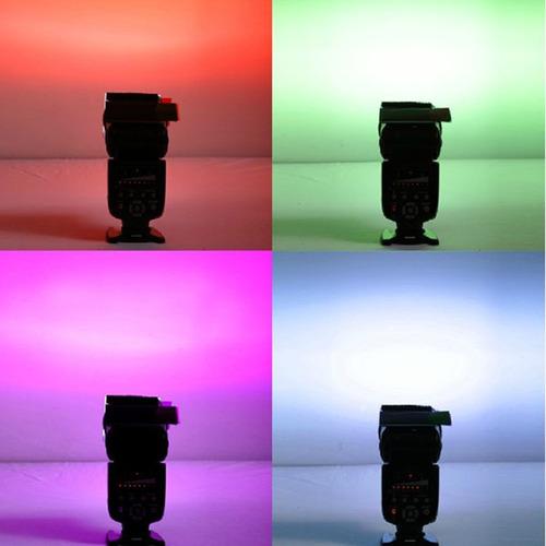 filtro difusor universal para flash 12 colores nikon canon