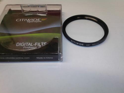 filtro digitalprofesional,absorve los rayos uv,52mm,nuevo