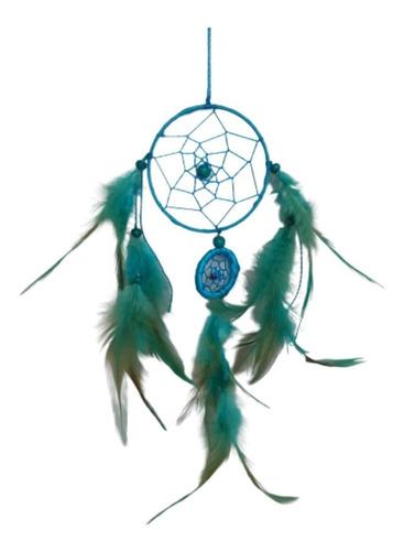 filtro dos sonhos com penas azul ref: 9423