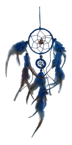 filtro dos sonhos com penas azul ref: 9424