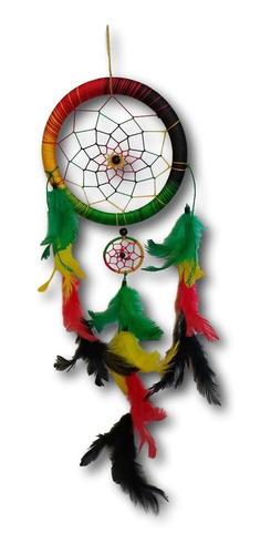 filtro dos sonhos com penas colorido reggae ref: 0193
