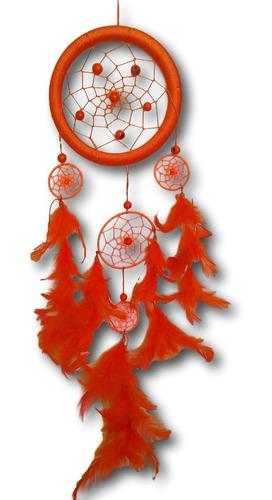 filtro dos sonhos com penas laranja ref: 0195