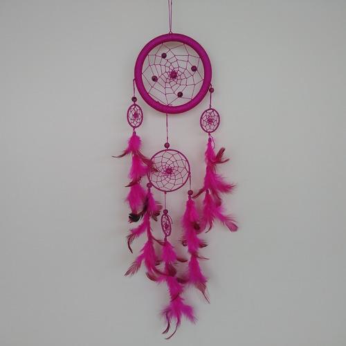 filtro dos sonhos com penas pink ref: 9477