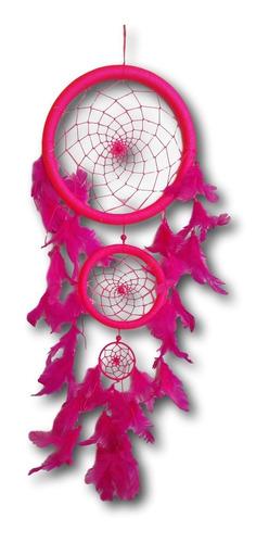 filtro dos sonhos  com penas rosa   ref: 0099