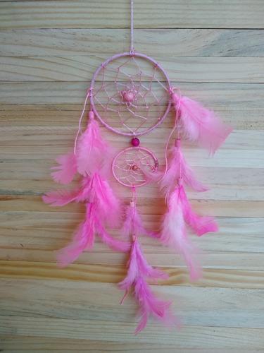 filtro dos sonhos com penas rosa ref: 9480