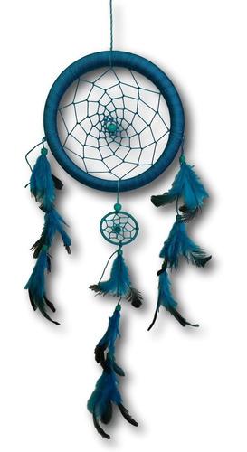 filtro dos sonhos com penas turquesa ref: 0194
