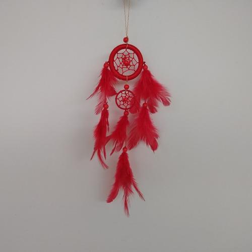 filtro dos sonhos com penas vermelho ref: 9172
