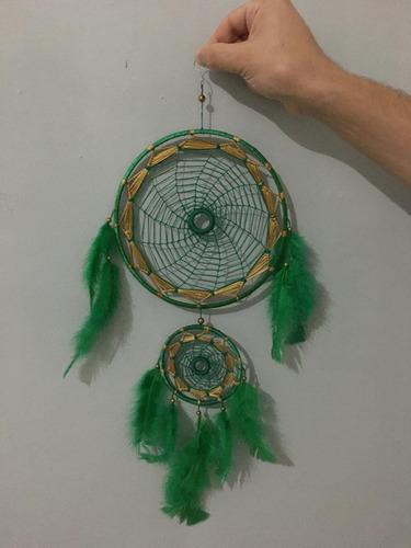 filtro dos sonhos croche mandala colorida verde fengshui