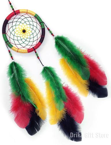 filtro dos sonhos penas reggae regae colorido - 40cm
