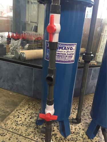 filtro duplex desbarrador de 4 galones  0,20 x 0,70