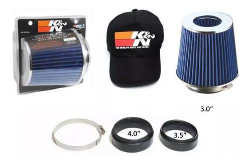 filtro esportivo cônico k&n duplo fluxo rg 1001bl + brindes
