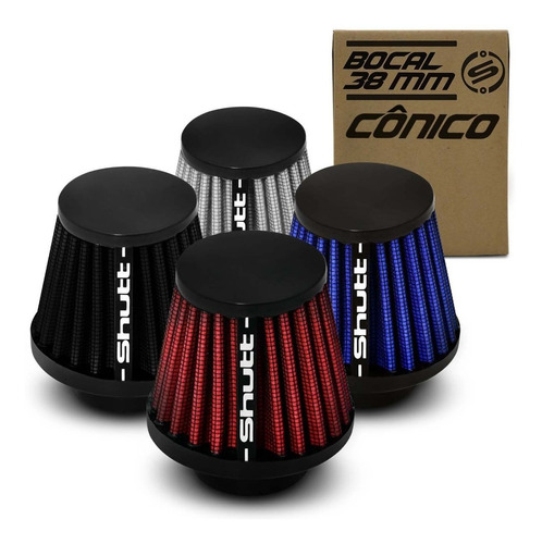 filtro esportivo moto cg fan titan 125 yes 125 factor 38mm
