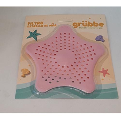filtro estrella de  silicona para bacha bañera  ducha baño