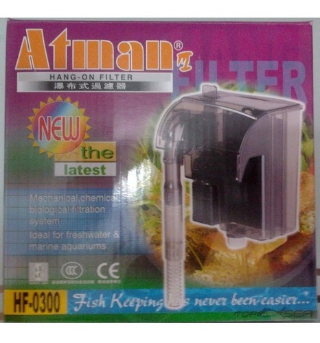 filtro externo aquário hf0300 300lt/h atman 110v