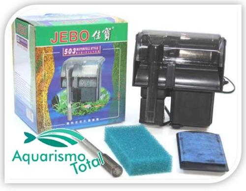 filtro externo jebo 503 6w 580l/h aquários até 120l c/ nota!