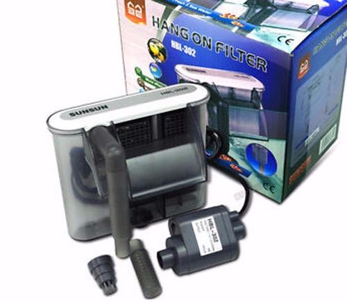filtro externo sunsun hbl-303 350l/h 220v aquarios até 60 l