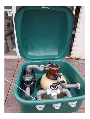 filtro gabinete pileta vulcano bomba 1hp + vc50 90000 lts
