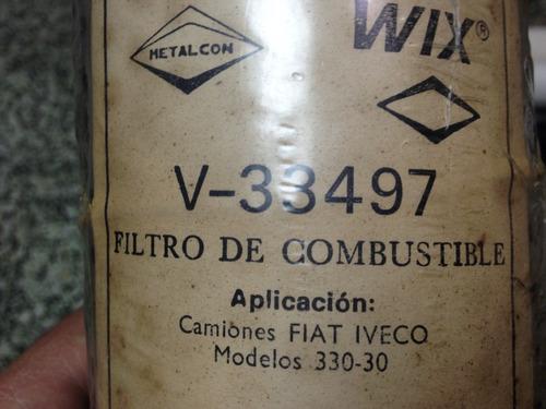 filtro gasoil combustible iveco 330-30 wix v-33497