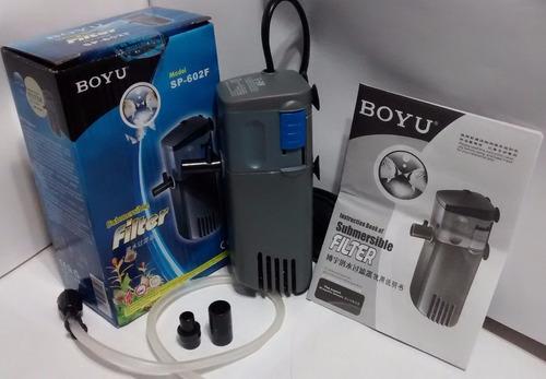 filtro interno boyu sp602f para acuarios peceras hasta 100lt