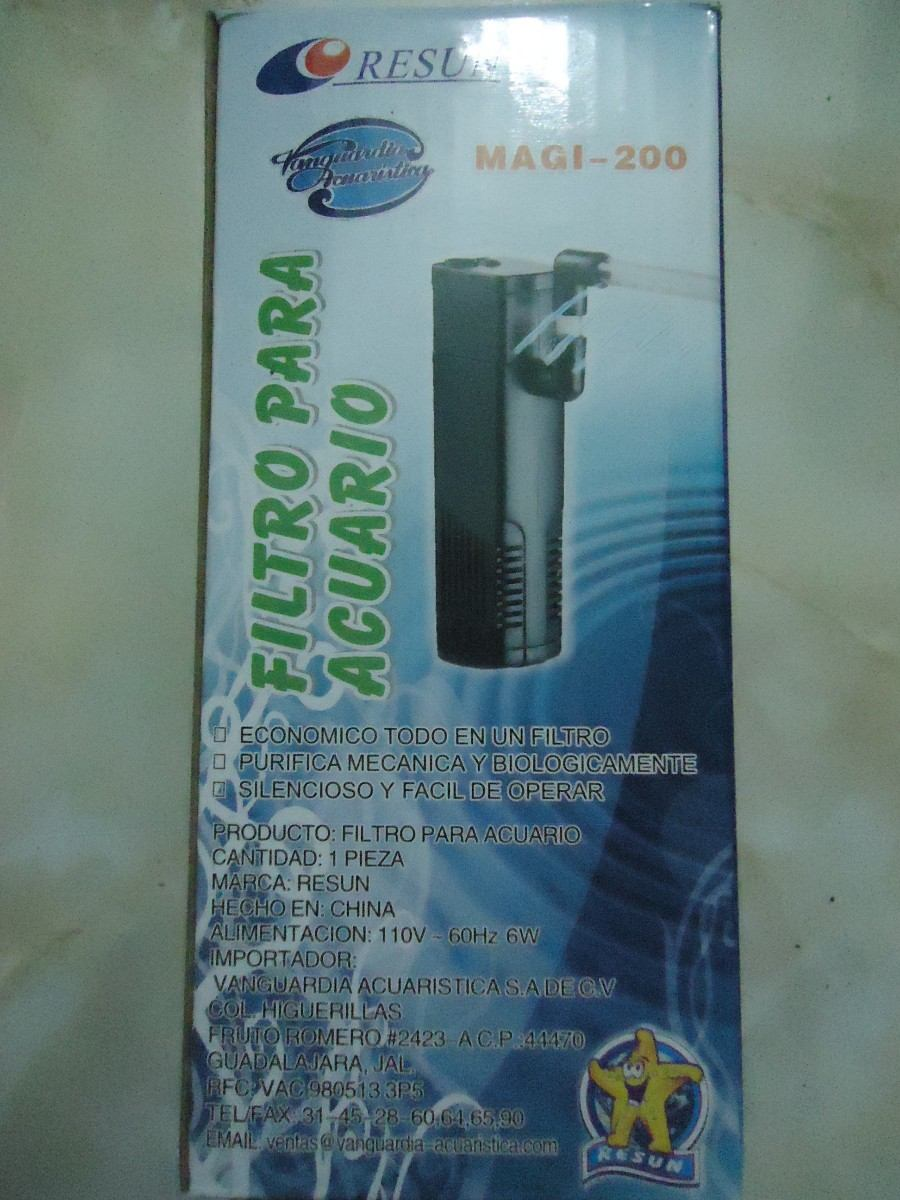 Filtro interno resun magi 200 para acuarios de 20 50 for Todo para acuarios