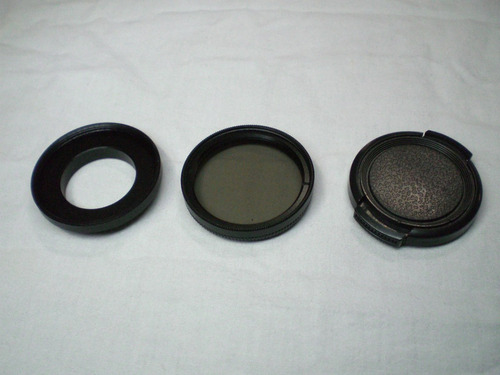 filtro lente polarizadora uv 37mm gopro 3 e 4 black hero 3+