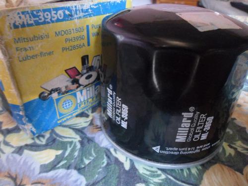 filtro millard aceite ml-3950 mitsubishi mx/mf,hiunday accen