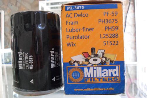 filtro millard ml-3675 chevrolet, hummer