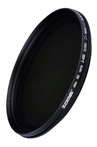 filtro nd variável zomei nd2 até nd400 profissional 58mm