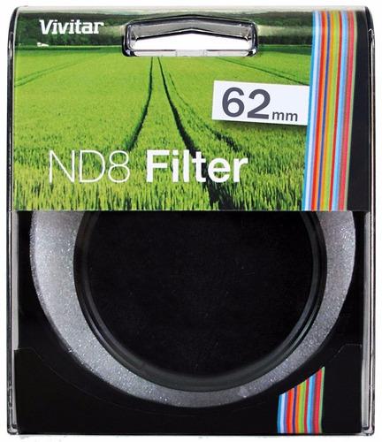 filtro nd8 vivitar densidad neutra 62 mm + estuche