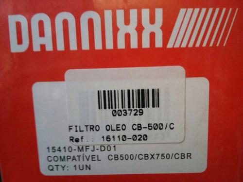 filtro oleo cb-500/cbr-600/cbx-750/shandow audax cod 003729