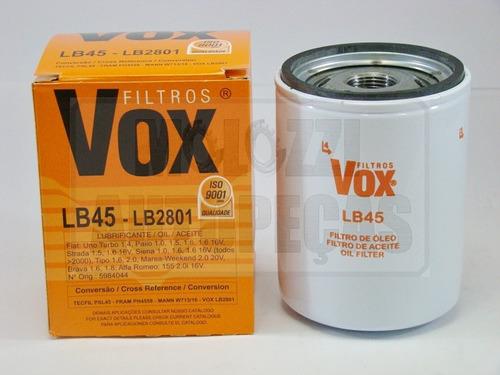 filtro oleo fiat palio/siena/strada /2000 - tipo 1.6/2.0