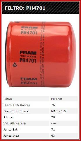 filtro oleo ipanema - omega , onix , palio , prisma
